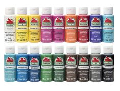 Apple Barrel Acrylic Paint Set, 18 Piece PROMOABI Assorted Colors I (Color: White Black Flag Red Jack-o-lantern Bright Blue Melted Chocolate Nutmeg Brown Bright Yellow New Sha, Tamaño: Pack of Terra Cotta, Apple Barrel, Acrylic Craft Paint, Acrylic Paint Bottles, Chalk Paint, Purple Iris, Buy Apple, Pewter Grey, Paint Cans