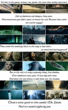"""Sam's speech in """"The Two Towers"""""""
