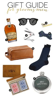 Great gift ideas for groomsmen! Feel free to pass this pin along to the groom ;)