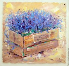 Buy oil painting on canvas Lavender Provence L Lavendar Painting, Lavender Paint, Watercolor Wallpaper, Watercolor Flowers, Watercolor Paintings, Flower Canvas, Flower Art, Flora Flowers, Vintage Decor