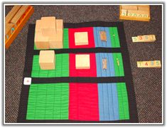Montessori Addition Mat - Great way to organize addition with the golden beads and other math operations
