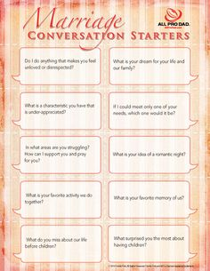 Marriage Conversation Starters Second Chance to Dream: Week Marriage Challenge -Date your Husband Godly Marriage, Marriage Relationship, Marriage And Family, Happy Marriage, Marriage Advice, Strong Marriage, Marriage Goals, Marriage Help, Successful Marriage