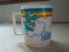 Vintage Plastic Care Bear Deka Mug by TheHoneysuckleTree on Etsy, $4.00