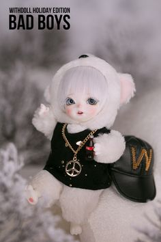 #WITHDOLL #Holiday Edition #BadBoys #Ermine #16cm #BWD #Animal #Neo #CreamWhite skin #hiphop
