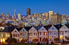 """Painted Ladies"", Alamo Square, San Francisco    ""Painted ladies"" is a term used for Victorian and Edwardian houses and buildings painted in three or more colors that embellish or enhance their architectural details. The term was first used for San Francisco Victorian houses ... ---- Wikipedia    So...maybe I don't actually need to go to San Francisco...but I would love to take a closer look at a Victorian house or two!"