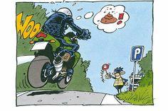 Joe Bar Team - politie houdt motorrijder aan