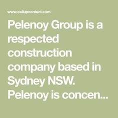 Pelenoy Group is a respected construction company based in Sydney NSW. Pelenoy is concentrated across 4 key areas of construction; commercial, residential, hospitality and industrial. Our services are underpinned by values and goals in delivering excellence, providing the highest quality product on time and within budget.
