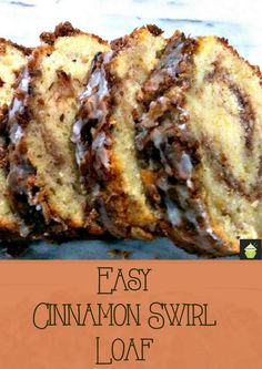 Easy Cinnamon Swirl Loaf A moist soft and wonderful tasting loaf cake perfect with a morning coffee! Easy Cinnamon Swirl Loaf A moist soft and wonderful tasting loaf cake perfect with a morning coffee! Yummy Recipes, Sweet Recipes, Baking Recipes, Cake Recipes, Dessert Recipes, Loaf Recipes, Healthy Recipes, Recipies, Unique Recipes