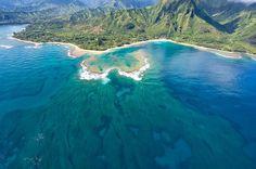 Tunnels Beach, Hawaii - My favorite snorkeling in Kauai so far.