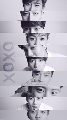 gambar exo, kpop, and Chen Baekhyun Chanyeol, Park Chanyeol, Got7, Exo Lockscreen, Kim Minseok, Xiuchen, Exo Korean, Exo Fan, Exo Ot12