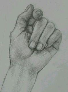 Pencil drawn hand
