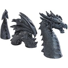 Design Toscano Dragon of Falkenberg Castle Moat Lawn Statue (115 CAD) ❤ liked on Polyvore featuring home, outdoors, outdoor decor, patio decor, dragon statue, outdoor patio decor, garden decor and garden statuary