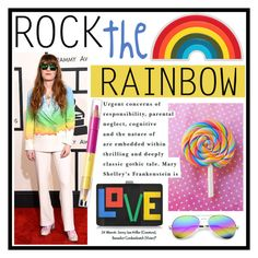 """""""Rock the Rainbow"""" by mariashyvae ❤ liked on Polyvore featuring Anya Hindmarch, Les Petits Joueurs, Revo, shu uemura, women's clothing, women's fashion, women, female, woman and misses"""