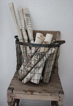 Wire baskets - any wire basket - swooning for sure!