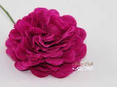 Carnation Crepe Paper Flower Tutorial