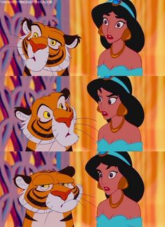 30 day disney challenge day favorite animal: Raja from Aladdin! He has so much charicture and love for jasmine plus he is a tiger :) @ Disney Jasmine, Disney Princesa Jasmine, Disney Magic, Disney Art, Jasmine Jasmine, Disney E Dreamworks, Disney Pixar, Walt Disney, Aladdin 1992