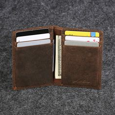 2f9e22c71e Fashion Vintage Genuine cow leather Men s card bag ultra-slim id card  holder multi-