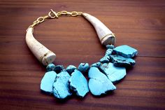 Hey, I found this really awesome Etsy listing at https://www.etsy.com/listing/491999339/turquoise-and-antler-necklace-turquoise