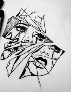 Drawing piece of art piirtämisideat, tatuointi, piirtäminen. Art Inspo, Kunst Inspo, Inspiration Art, Tattoo Drawings, Art Drawings, Tattoo Sketches, Broken Drawings, Art Du Croquis, Desenho Tattoo