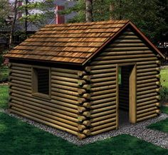 Landscape Timber Playhouse Woodworking Plan - hmmm they are on sale at Home Depot this weekend. :)