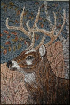 gallery — great detail of this Buck! – Rug making Rug Hooking Designs, Rug Hooking Patterns, Wooly Bully, Peg Loom, Punch Needle Patterns, Rug Inspiration, Hand Hooked Rugs, Braided Rugs, Penny Rugs