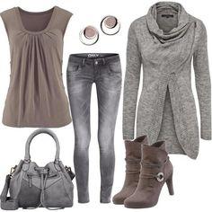 laura scott tamaris grey Outfit für Damen zum Nachshoppen auf Stylaholic