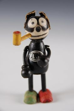 FELIX THE CAT WOOD JOINTED FIGURE SMOKING PIPE