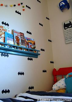 How to create your own wall decals. Any shape and any color. #walldecal #Batman #boysbedroom