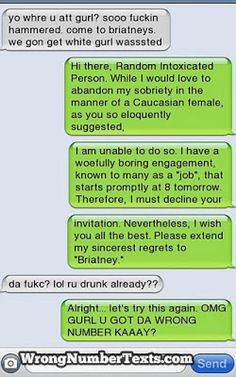 The Web Babbler: Wrong Number Texts #1
