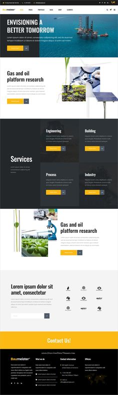Baumeister is clean, powerful and modern design responsive WordPress theme for #energy, industry and #manufacturing company #website with 9 niche homepage layouts to live preview & download click on Visit