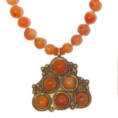 Carnelian Necklace 12 Beaded Bright Orange Stone Sard Brass Crystal Healing Gemstone 18  Price : $55.00 http://www.idigcrystals.com/Carnelian-Necklace-Crystal-Healing-Gemstone/dp/B00C6P1UBU