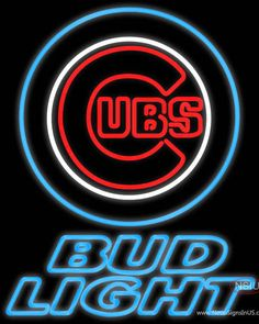 Bud Light Chicago Cubs MLB Real Neon Glass Tube Neon Sign,Affordable and durable,Made in USA,if you want to get it ,please click the visit button or go to my website,you can get everything neon from us. based in CA USA, free shipping and 1 year warranty , 24/7 service