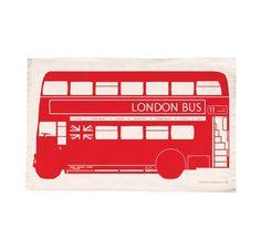 Victoria Eggs - London Bus Tea Towel
