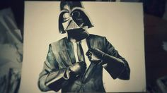 Lord Vader loves his new suit #watercolor #starwars #suit #vader