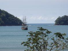 tall wooden ship, Los Suenos, Costa Rica