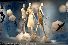 walking on clouds, pinned by Ton van der Veer Store Window Displays, Photo Displays, Display Window, Retail Windows, Store Windows, Window Boards, Cloud Decoration, Holt Renfrew, Photo Corners