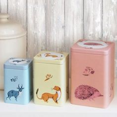 Set of 3 Fauna Nesting Storage Tins by Magpie