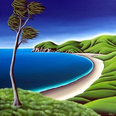 Painting 'Port Jackson' Coromandel by Kiwi Artist Diana Adams