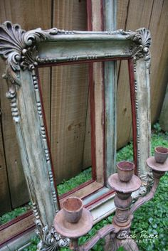 Shades of Amber: Annie Sloan Chalk Paint Link Party on Plastic Picture Frame