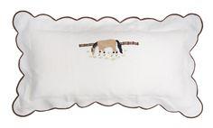 we just adore horses!!!  best gift ever!! linen hand applicate lumbar pillow sham!!