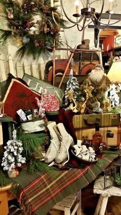 Lodge Christmas @ Brettys … www. Christmas Shop Displays, Christmas Booth, Christmas Lodge, Christmas Window Display, Woodland Christmas, Christmas Store, Primitive Christmas, Country Christmas, Christmas Photos