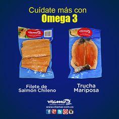 Los estudios sobre los efectos de los ácidos grasos han demostrado que el Omega 3 reduce el riesgo de enfermedades cardíacas. Es por esto que La Asociación Americana del Corazón recomienda comer #Pescado 2 veces por semana especialmente grasos como el Salmón y la Trucha.  Disfruta de ellos en: http://vitamar.com.co/product/trucha-mariposa-vitamar/ http://vitamar.com.co/product/filete-de-salmon-chileno/  www.vitamar.com.co