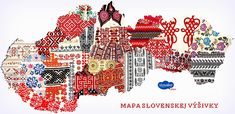 Map of textile folk patterns in slovakia