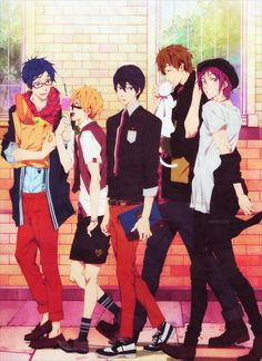 Rei and Nagisa are so cute <3 And Rin's working that hat. Free!