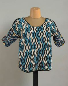 Africa | Female Royal Tunic; fabric and glass beads | Banjoun, Cameroon