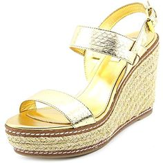 Lauren Ralph Lauren Serana Women US 95 Gold Wedge Sandal -- Clicking on the VISIT button will lead you to find similar product