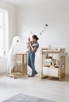 """""""Stokke is full of exciting, unique designs that are a natural fit in the nursery, no matter your decorating style. We love the gorgeous designs, but that's not the only thing that will make you feel good about adding Stokke's products to your home—they're also sustainable!"""" via PROJECT NURSERY"""