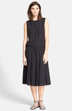 Vince+Pleated+Shirtdress+available+at+#Nordstrom