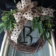 Spring Summer Grapevine Wreath with mix by angiespictureframes, $35.00