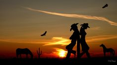 Western Cowboys | cactus cowboy Western Romance wallpaper